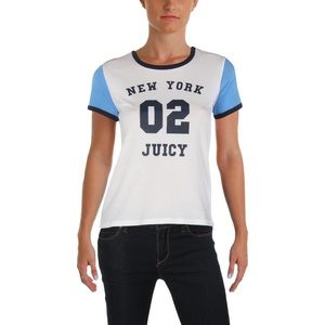 Juicy Couture Black Label Colourblock Tee Size M/L